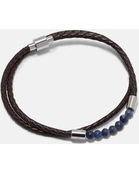 Ted Baker - Beaded Leather Double Wrap Bracelet - Lyst