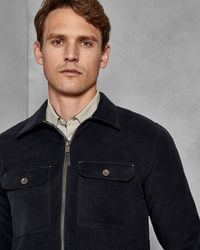 Ted Baker - Two Pocket Zipped Cotton Shacket - Lyst