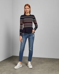 Ted Baker - Girlfriend Fit Jeans - Lyst