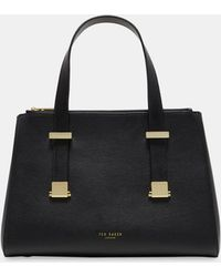 Ted Baker - Small Leather Pebble Grain Tote Bag - Lyst