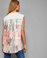 Ted Baker - Pleated Back Sleeveless Knit - Lyst