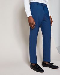 Ted Baker - Slim Fit Plain Wool Suit Trousers - Lyst