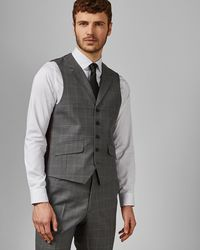 626863eb696f4 Ted Baker Sterling Herringbone Wool Jacket in Gray for Men - Lyst