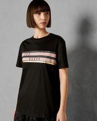 Ted Baker - Cotton Logo T-shirt - Lyst