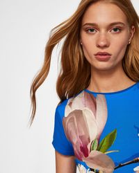 Ted Baker - Harmony Fitted T-shirt - Lyst