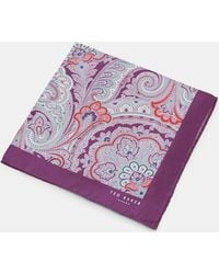 Ted Baker - Paisley Silk Pocket Square - Lyst