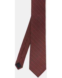 Ted Baker - Geo Print Silk Tie - Lyst