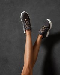 Ted Baker - Suede Trainers - Lyst