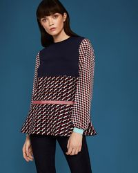 Ted Baker - Woven Print Top - Lyst