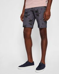Ted Baker - Tropical Print Cotton City Shorts - Lyst