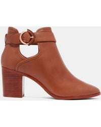 Ted Baker - Buckled Leather Ankle Boots - Lyst