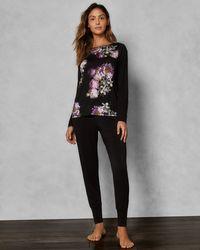 Ted Baker - Sunlit Floral Jersey Pyjama joggers - Lyst
