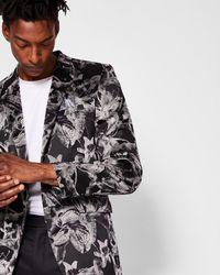 Ted Baker - Pashion Floral Jacquard Velvet Jacket - Lyst
