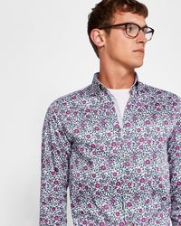 Ted Baker - Floral Print Shirt - Lyst