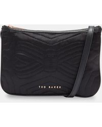 Ted Baker - Quilted Bow Double Pouch Cross Body Bag - Lyst
