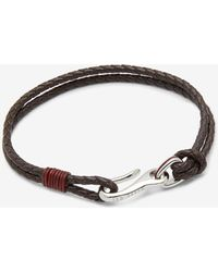 Ted Baker - Double Strand Leather Bracelet - Lyst