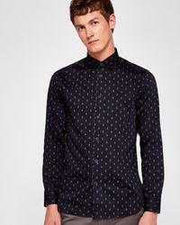 Ted Baker - Diamond Print Cotton Shirt - Lyst