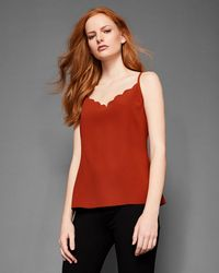 Ted Baker - Scalloped Neck Cami - Lyst