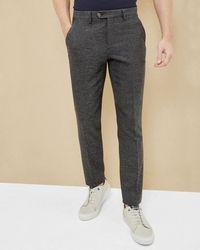 Ted Baker - Semi Plain Wool-blend Trousers - Lyst