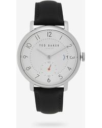 Ted Baker - Leather Strap Watch - Lyst