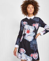 Ted Baker - Chelsea Flower Collar Dress - Lyst