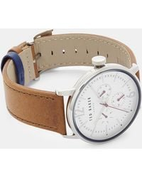 Ted Baker - Rubber Leather Strap Watch - Lyst