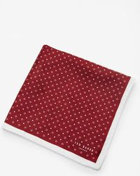 Ted Baker - Micro Geo Print Pocket Square - Lyst