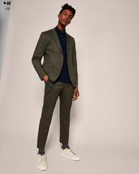 Ted Baker - Piece-dyed Cotton Trousers - Lyst