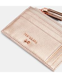 Ted Baker - Double Sided Zipped Leather Card Holder - Lyst