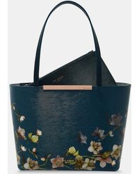Ted Baker - Arboretum Mini Leather Shopper Bag - Lyst