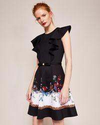 Ted Baker - Shaelin Opulent Fauna Ruffle Bow Dress - Lyst