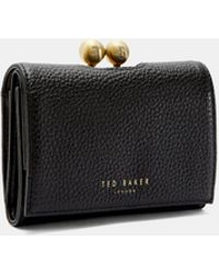 Ted Baker - Small Leather Bobble Purse - Lyst
