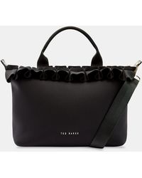 c5a7d6b80c88 Ted Baker Chatsworth Small Nylon Tote Bag in Gray - Lyst