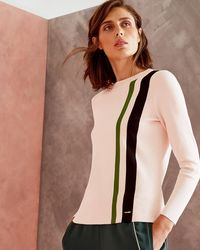 Ted Baker - Knitted Striped Jumper - Lyst
