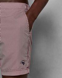 Ted Baker - Striped Formal Swim Shorts - Lyst