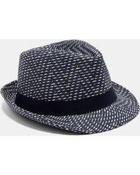 Ted Baker - Herringbone Trilby Hat - Lyst