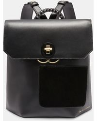 d2315d21c0283 Ted Baker Flap Detail Leather Backpack - Lyst