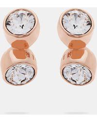 Ted Baker | Crystal Tumble Stud Earrings | Lyst