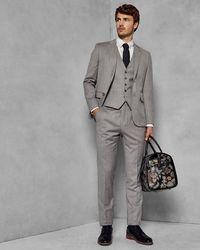 Ted Baker - Debonair Skinny Wool Suit Jacket - Lyst