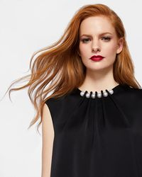 Ted Baker - Pearl Embellished Top - Lyst