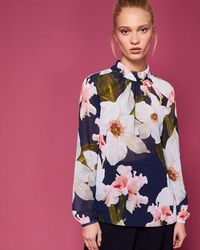 Ted Baker - Chatsworth Bloom Ruched Blouse - Lyst