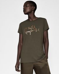 Ted Baker - 'drop Ted Gorgeous' Fitted T-shirt - Lyst