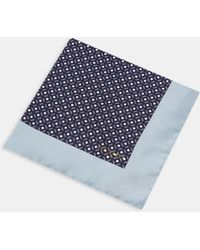 Ted Baker - Geo Spot Silk Pocket Square - Lyst