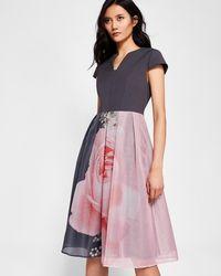 Ted Baker - Blenheim Palace Midi Dress - Lyst