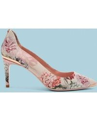 ccf4427968c3a Ted Baker V-front Suede Courts in Pink - Lyst