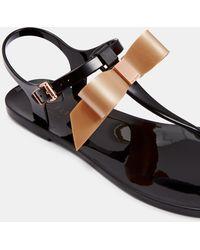 648f50e61 Ted Baker - Bow Detail Jelly Sandal - Lyst