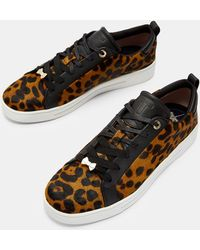 Ted Baker - Leopard Print Trainers - Lyst