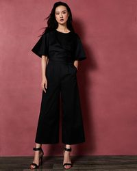 Ted Baker - Cotton Jumpsuit With Cross Detail - Lyst