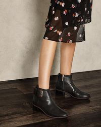 ca9e807a6 Ted Baker Millae Pointed Toe Ankle Boots in Black - Lyst