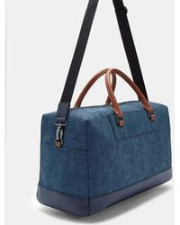 3ed8b9b549d233 Lyst - Ted Baker Claws Holdall In Crossgrain in Blue for Men